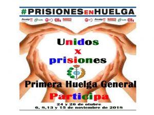 Huelga General Prisiones oct y nov 2018