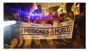 Seguimiento masivo huelga prisiones