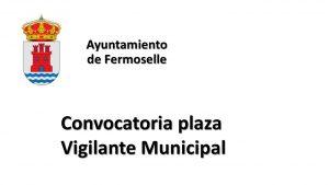 Ayto Fermoselle plaza vigilante