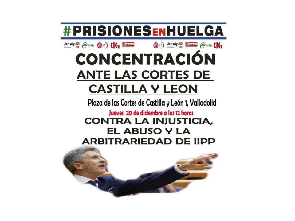 Concentración 20-12-2018 Cortes Castilla y León