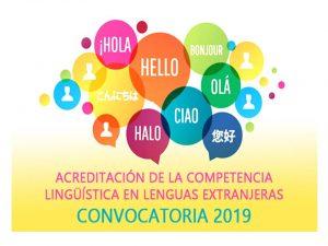 Acreditación lingüística lenguas extranjeras 2019