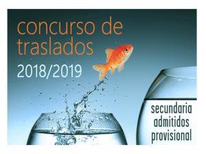 Concurso traslados Secundaria prov admitidos 18-19