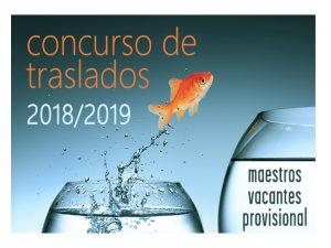 Concurso traslados Maestros prov vacantes 18-19