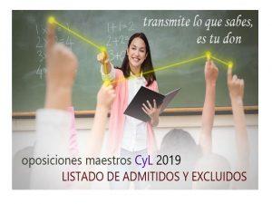 Oposiciones Maestros 2019 admitidos