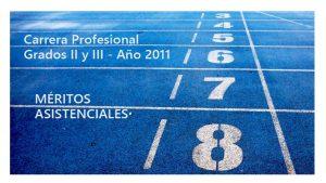 Carrera Prof Grados II III 2011 Méritos asistenciales