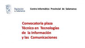Diputacion salamanca plaza Técnico TIC may-2019