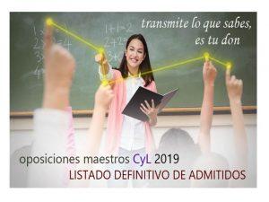 Oposiciones Maestros 2019 def admitidos