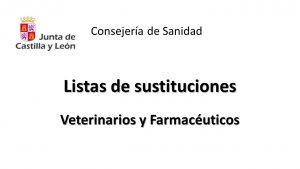 sustituciones veterinarios farmaceuticos sep-2019