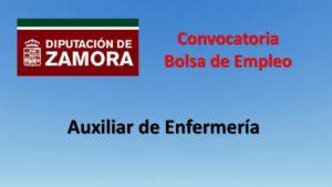 Diputacion Zamora bolsa aux enfermería dic-2019