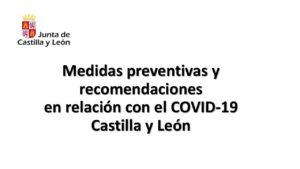 Medidas coronavirus en cyl