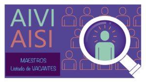AIVI AISI curso 20-21 Maestros vacantes