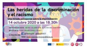 Webinar heridas discriminación y racismo